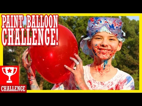 PAINT BALLOON CHALLENGE!  HAPPY 4th OF JULY!!  |  KITTIESMAMA