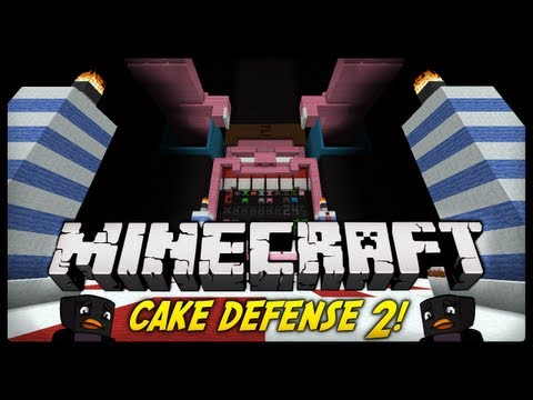 Minecraft - COS TY ZROBIL?! Cake Defence 2 (Minecraft Mini-Game)