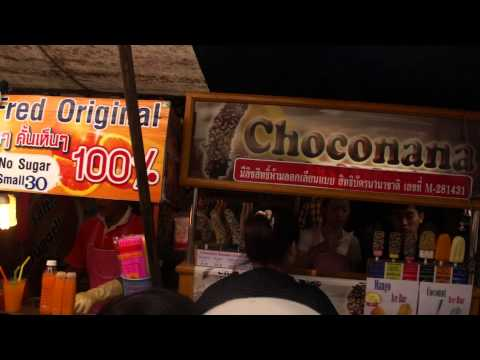 Chocolate covered banana as seen at the Famous Weekend Market, Bangkok, Thailand