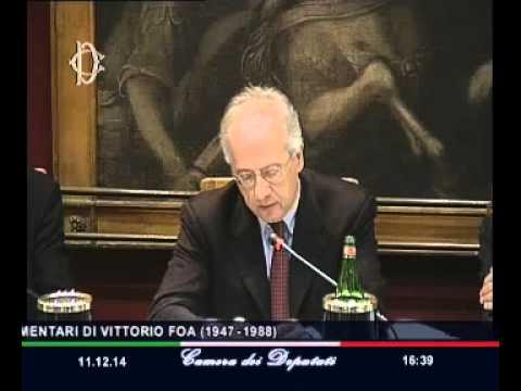 Roma - Presentazione discorsi parlamentari Vittorio Foa (11.12.14)
