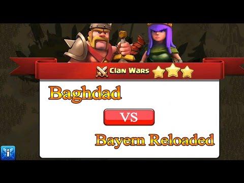 Clash Of Clans War Attacks [Baghdad VS Bayern Reloaded] - حرب كلان بغداد الحلقة 23