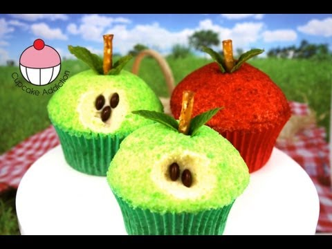 Apple Cupcakes! Make Vegan Caramel Apple Cupcakes - A Cupcake Addiction Vegetarian Baker Collab!