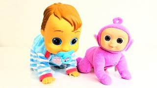 Teletubbies Mini Baby Tiddlytubbies Ping Surprise and Peke baby