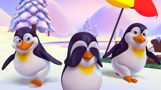 Penguins Hide and Seek Song + More Nursery Rhymes + T-Rex & Baby Shark Songs