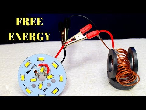 Free Energy Device, Free energy generator for light bulbs   Using Copper wire and Magnet thumbnail