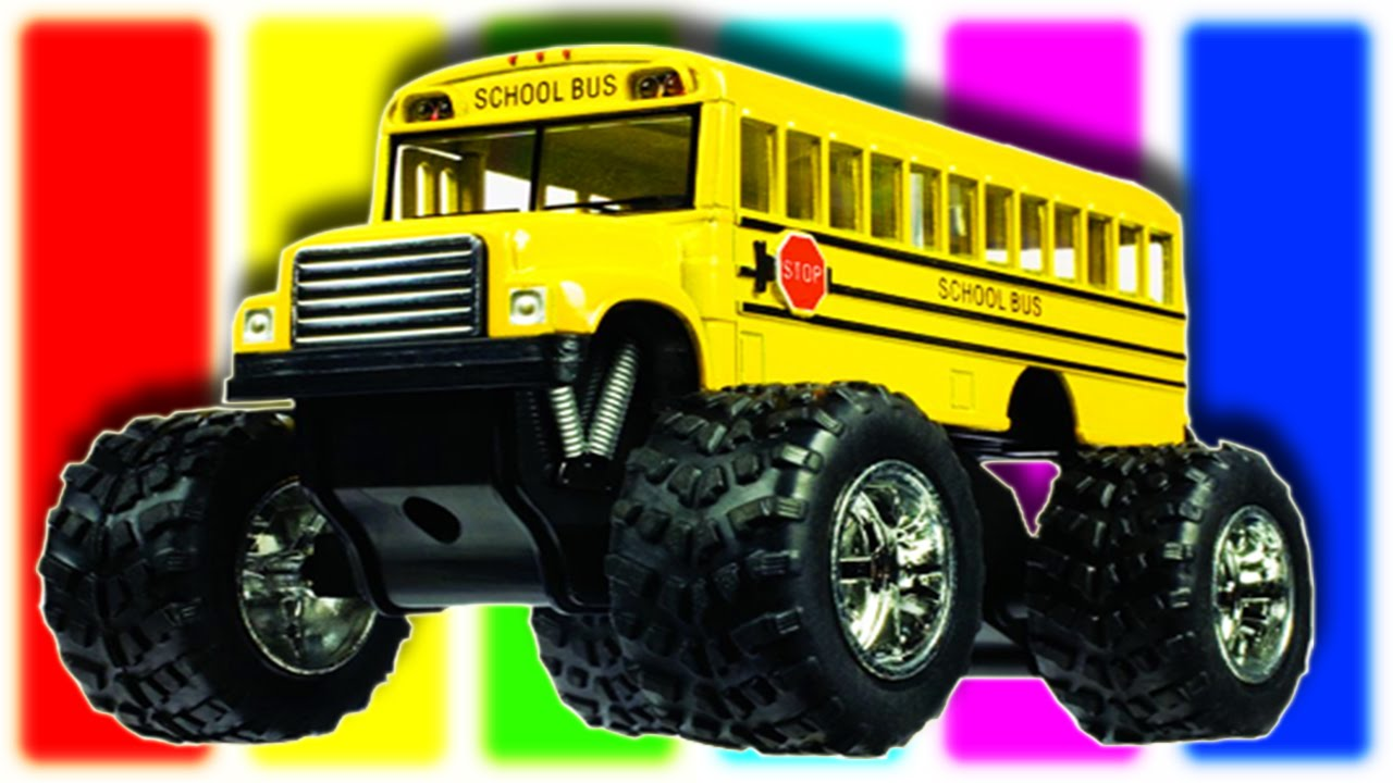 School Bus Monster Truck Toy Monster Truck Bus For