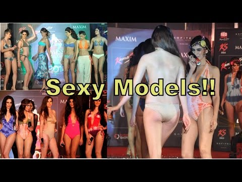 Hot Kamasutra Models Walks The Ramp In Gowns At Miss Maxim Grand Finale 2014 video