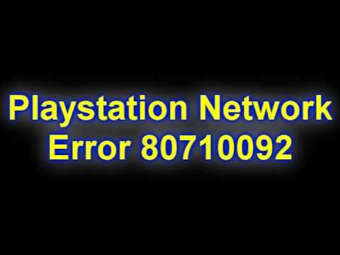 Ошибка 80710102 решение ps3
