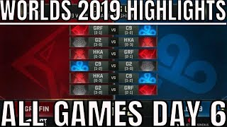 S9 Worlds 2019 Day 6 Highlights ALL GAMES Group A - G2 Esports, Griffin, Cloud9, Hong Kong Attitude
