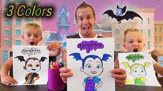 Alexa Chooses My Colors! 3 Marker Vampirina Halloween Challenge!