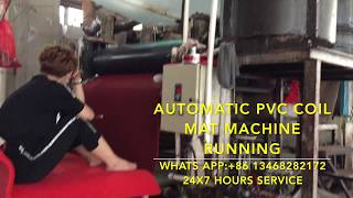 China PVC double color coil car floor mats extruder machine for India/Iran