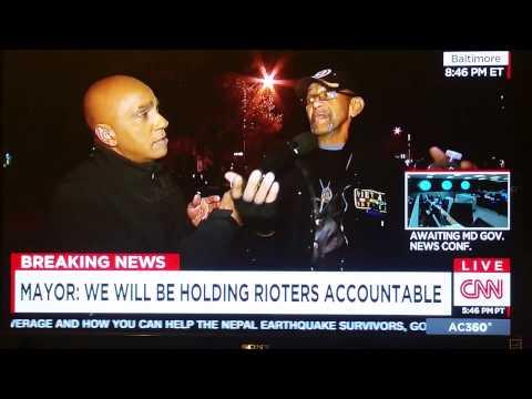 Vietnam vet Robert Valentine stands up to Baltimore rioters
