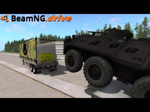 BeamNG.drive - APC VS RADIOACTIVE TRAILER