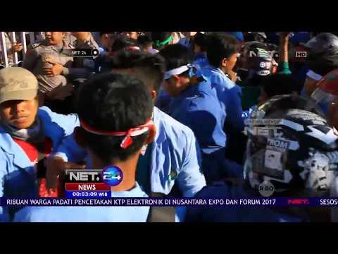 Demo 3 Tahun Pemerintahan Jokowi-JK di Pekanbaru Ricuh - NET24