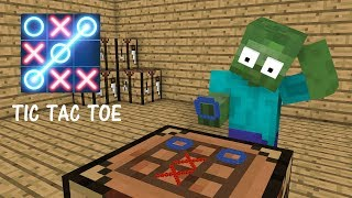 Monster School : TIC TAC TOE CHALLENGE - Minecraft Animation