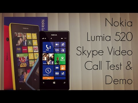 Nokia Lumia 520 Skype Video Call Test & Demo
