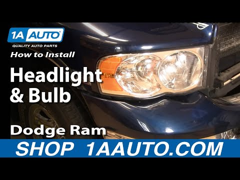 How To Install Repair Replace Headlight and Bulb Dodge Ram 02-06