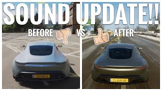 Forza Horizon 4 | Updated Car Sound! Aston Martin DB10 Before & After Comparison