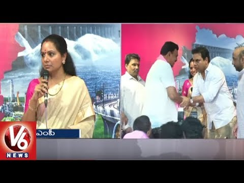 TRS MP Kavitha Speech | Nizamabad Rice Millers Joins TRS Party | Hyderabad | V6 News