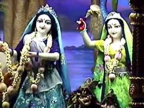 Mangala Arati Of Sri Sri Radha Gopinath, Iskcon Temple,chowpatty,mumbai;1st May 2014 video