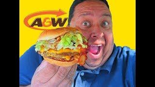A&W® Restaurants ~ BBQ Bacon Crunch Burger Review!