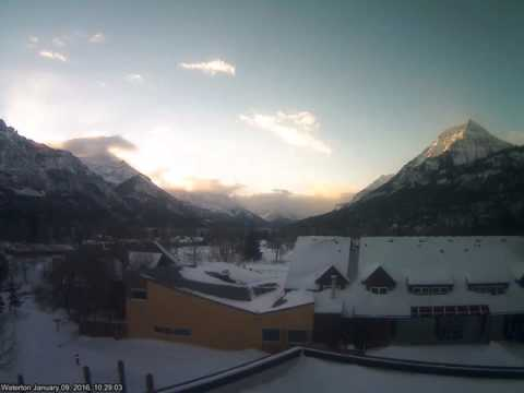 Waterton, Alberta, Canada, January 2016 Time Lapse