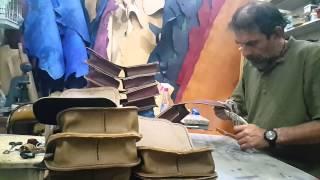 Deri çanta yapımı Cihat Benzer Şimal sanat evi