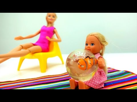 Рыбка #Немо 🌊для #Штеффи 👧Выбираем аквариум с #Барби 🌊Игры Барби для девочек
