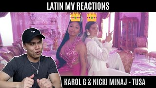 CHICO ASIÁTICO REACCIONA A KAROL G & NICKI MINAJ - TUSA [THE QUEENS👸👸]