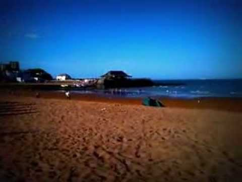 Beautiful English sandy beaches. Seaside of Broadstairs, Kent, UK