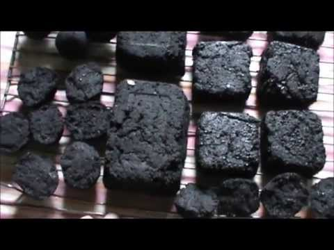 Rendered fat charcoal briquettes. Part 2 of 4
