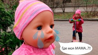 Кукла Беби Бон ПОДКИДЫШ Беби Бон плачет Как мама Crying Baby Born doll