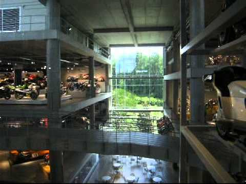 Awesome Hydraulic Glass Elevator @ Barber Vintage Motorsports Museum