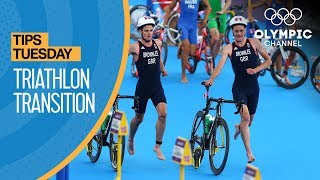 How to Transition to the Bike in Triathlon ft. Nicola Spirig | Olympians