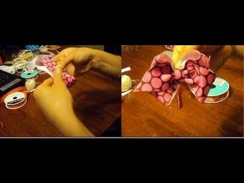 Como hacer Moños de Liston Para El Cabello