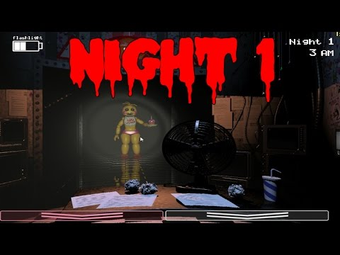 Five Nights at Freddy's 2: Gameplay Walkthrough Part 1 - NIGHT 1 - SO HYPED!