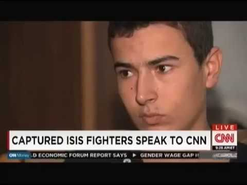 Captured ISIS fighters,Interview CNN- Kurdish prison