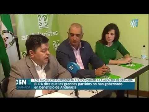 Antonio Jesús Ruiz (PA) en la presentación del candidato a la Alcaldía de Granada