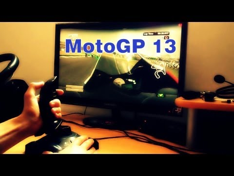MotoGP 13 PC Gameplay on Logitech Attack 3 Joystick