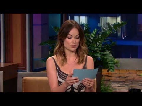 Olivia Wilde Reads Justin Bieber Hate Tweets on Jay Leno!