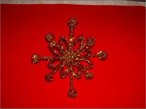 Manualidades Navideñas estrella copo de nieve colgante para árbol