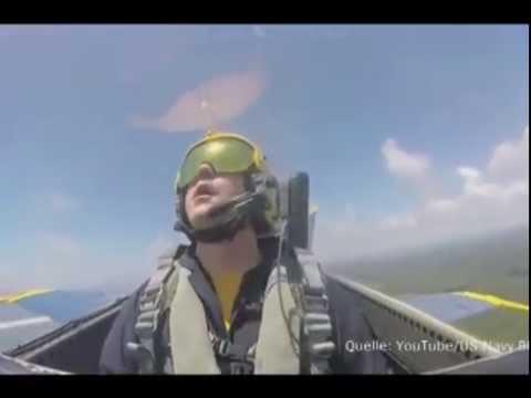 Экстремальное испытание летчика на перегрузку в 9G!