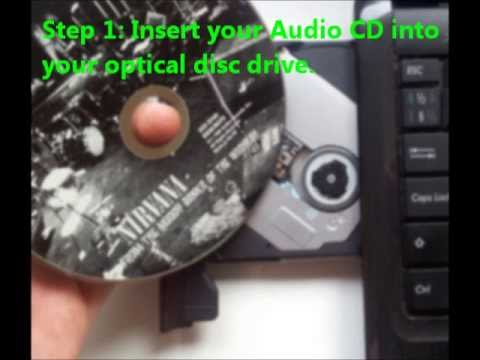 How To Convert Audio CD To Mp3 / Rip Music From a CD Using Windows XP, Vista 7 or 8.