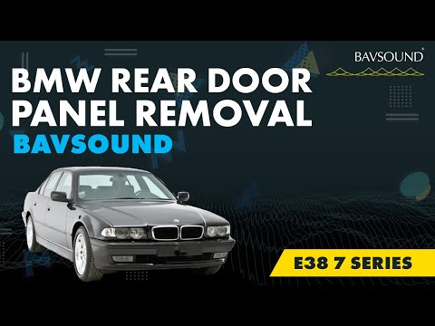 BMW e38 7 series Rear Door Panel Removal