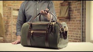 The Medium Duffle   Waxed Canvas & Leather Duffle Bag