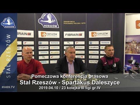 #H69.TV |KONFERENCJA| Stal Rzeszów - Spartakus Daleszyce |2019.04.10|