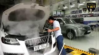 Cách rửa khoang máy xe Đức an toàn sạch như mới Audi Q7