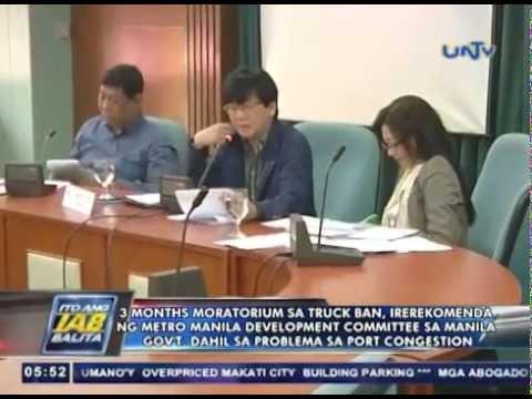 3-month moratorium sa truck ban, irerekomenda ng Metro Manila Development Committee