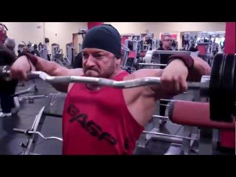Rick Bencomo - Wide grip barbell upright rows Image 1