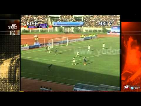 Yadanarbon FC of Burma and Dordoi-Dynamo of Kyrgyzstan play AFC President's Cup 2010 final match in Thuwanna Stadium, Rangoon, Burma on September 26, 2010. Y...